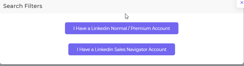 Choosing the right LinkedIn account type in the campaign configuration page